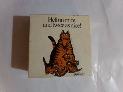 1980 B Kliban Hell on mice and twice as nice! mini puzzle 100 pcs