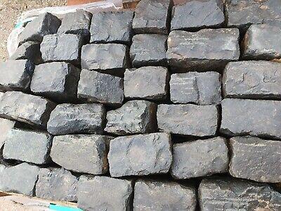 Reclaimed Staffordshire blue granite setts cobbles  garden path random Midlands