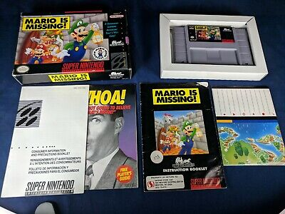 - Mario is Missing - Boxed - Map included - SNES