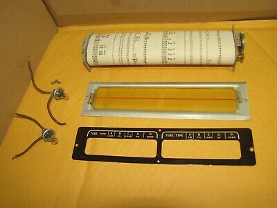 Vintage Roller Chart Assembly For Tube Tester Triplett 3480 Clean And Working