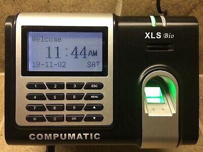 Compumatic Xls Bio Fingerprint Time Clock System Excellent Cond Best Deal
