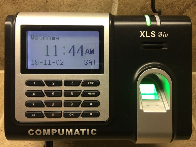 🔥COMPUMATIC XLS BIO Fingerprint Time Clock System EXCELLENT COND, BEST DEAL!🔥