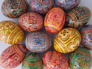 Assorted Wooden Painted Ukrainian Easter Eggs, Pysanka ,Pysanky,Pisanki Colorful