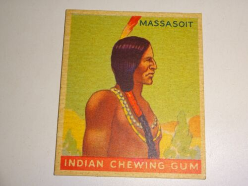 1933 INDIAN CHEWING GUM trading card #32 Massasoit Goudey Gum Company
