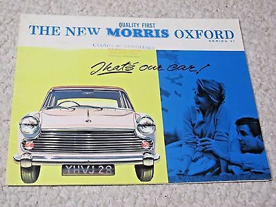 1961 MORRIS OXFORD (UK) SALES BROCHURE !!!