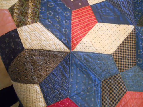 Vintage Quilt with fabrics from the 1860-1890
