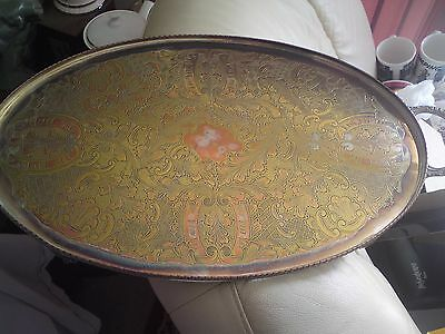 VINTAGE SILVER PLATE VINERS SHEFFIELD ENGLISH SERVING OVAL TRAY,