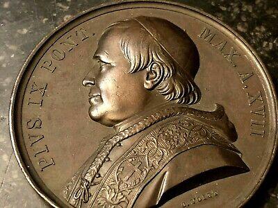 Pie Ix Medal Papal & Pape & 19th Th Century & Rome & Vatican & Bronze