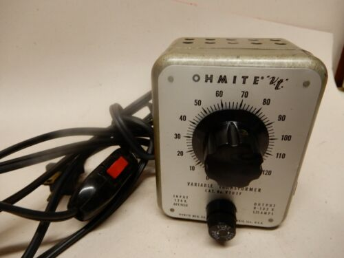 Ohmite V.T. Variable Transformer 1.75 Amps Tested and Guaranteed