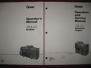 Onan JB-JC Generator Operators and Service Manuals