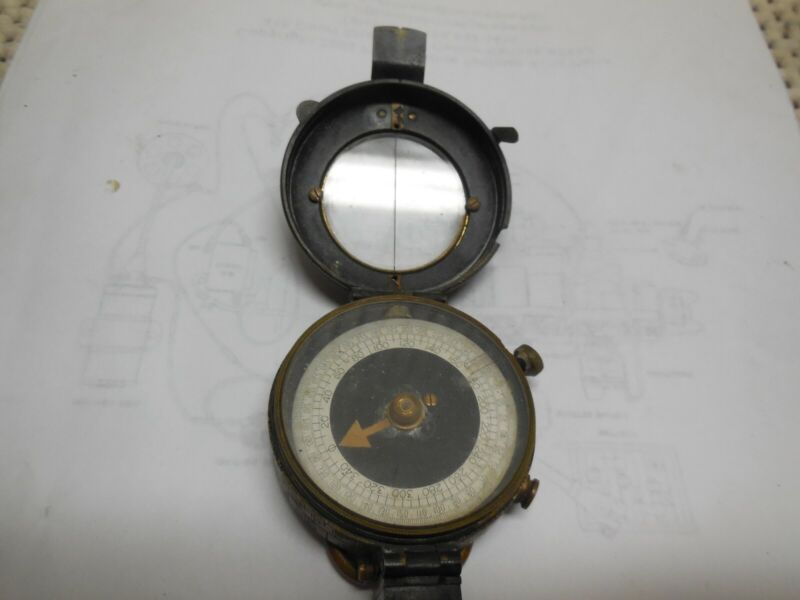 Brass Antique Military Vintage Pocket Compass