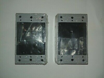 Lot Of 2 New Bwf Grey 1-gang Outlet Box Extension Ring Exr-1v - Free Shipping