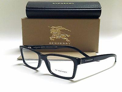 49e8db3f7a شامبر نظارة نظر جديد Authentic BURBERRY BE2108 3001 Black 54 16 140 Full Rim