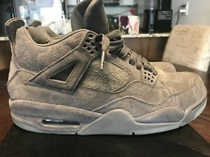 Nike Air Jordan Retro 4 Kaws Cool Grey size 10