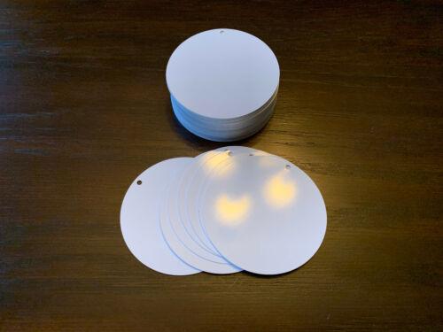 "3"" Aluminum Dye Sublimation Blank Disc WITH HOLES- Lot of 50PCs"