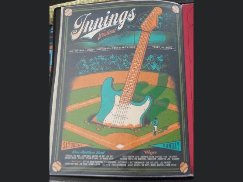 Innings Festival Poster 2020 Tempe AZ Dave Matthews Band, Mint