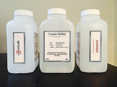 Copper Sulfate Cuso4 5h2o Minimum Of 99.6 Purity 3 Pounds In Bottles