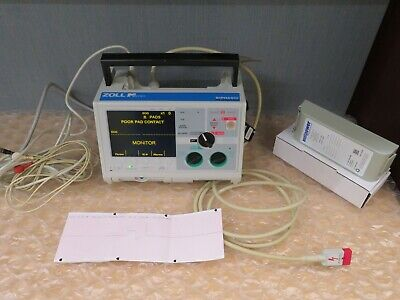 Zoll M-series Biphasic 3 Lead Monitor Ecg Pacer Analyze Print New Battery17793