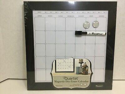Quartet Magnetic Dry-erase Calendar Board Porcelain 14 X 14 Black Frame 50721