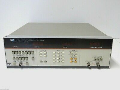 Agilent Hp 8165a 50 Mhz Programmable Signal Source