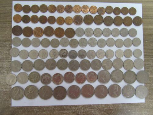 Lot of 104 Different Australia Coins - 1966 to 2010 - Circulated