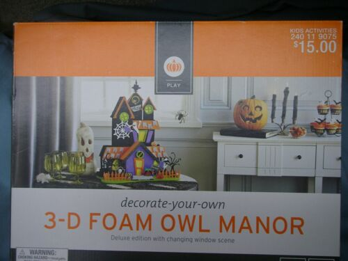 3-D Foam Halloween Owl Manor Kit Deluxe Edition Ages 6+ New