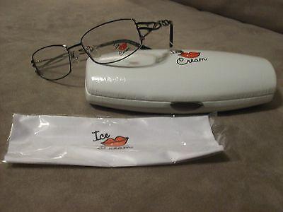 New Plan B eyewear IC8829 Ice Cream Ladies frames 54-17-135 w/case & cloth