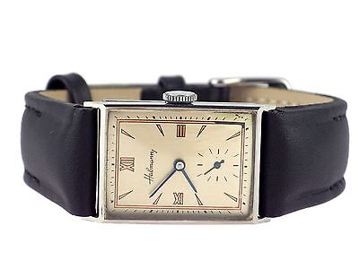 Art Deco  Habmann Herren Armbanduhr Stahl Vintage um 1935
