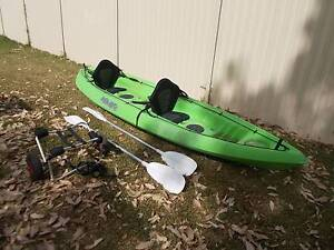 2 SEATER KAYAK WITH SEATS AND TROLLY GOOD CONDITION Toukley Wyong Area Preview