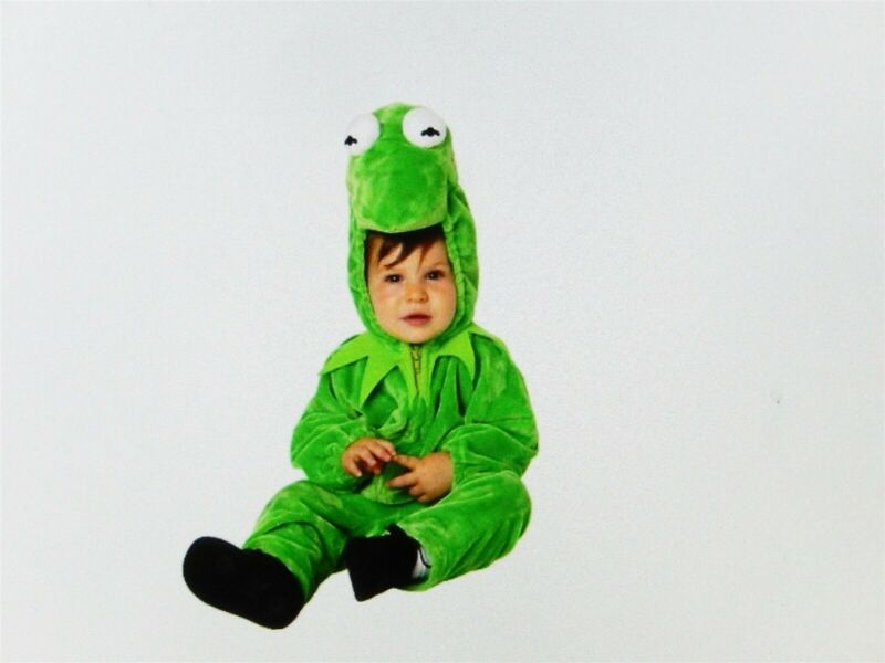 DISNEY KERMIT THE FROG 2 PC HALLOWEEN COSTUME INFANT TODDLER SZ 12 MONTHS NIP