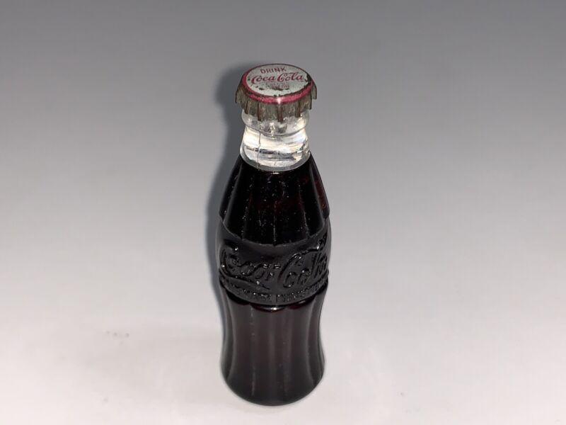 "Vintage Coca Cola Bottle Mini Cigarette Lighter  ""COKE""complete and never lit 2"