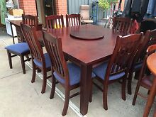 TABLE + 8 CHAIRS,Dining, Kitchen,Living Timber Furniture,WE DELI. Brunswick Moreland Area Preview