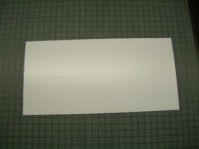 White Polystyrene Light Diffusing Plastic Sheet .030 Thick 6 X 12
