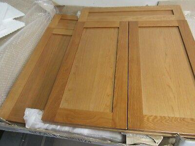 KITCHEN BATHROOM BASE CABINET DOORS SHAKER SOLID OAK FACE W/FRAME 24 X 30(LOT/2)