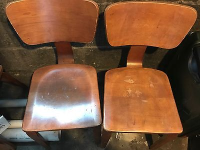 VINTAGE MID CENTURY MODERN THONET NEW YORK BENTWOOD CHAIRS