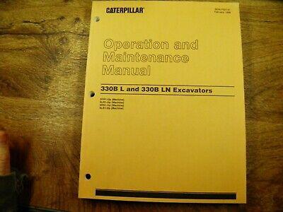 Cat Caterpillar 330b L 330b Ln Machine Operation Maintenance Manual 3yr 5lr
