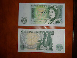 £1 Note   ONE POUND NOTE   1980-88   UNCIRCULATED.   D.H.F.SOMERSET