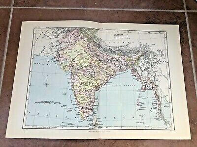 circa 1880s map of india ( adam & charles black )