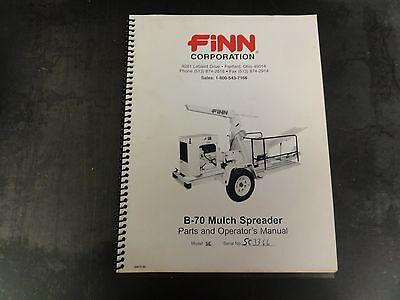 Mulch Spreader (Finn Corporation B-70 Mulch Spreader Parts and Operator's Manual    Model)