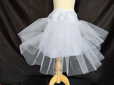 A Line White Petticoat Toddler Girls Underskirt Slips Crinoline Accessory #21](Girls Petticoat)
