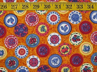 "Helpless Fabrics - ""Fleur de Provence - Amber"" - BTY"