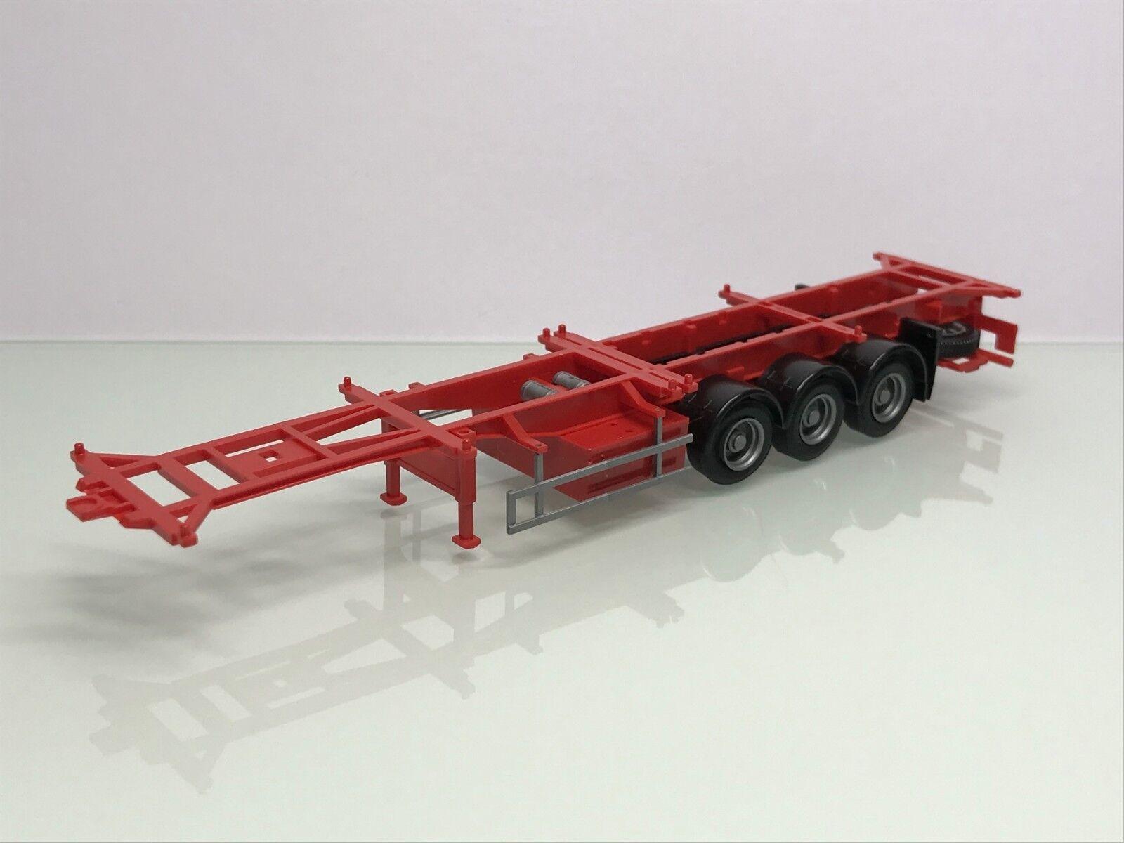 AWM 90638 Krone Lowliner Koffer Auflieger Sattelzug weiß