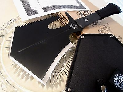 United Colombian Survival Tool Axe Saw Knife Shovel 1065CS UC3170 G10 Full Tang