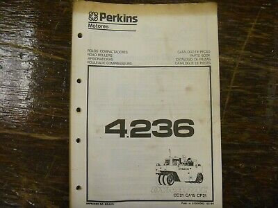 Dynapac Cc21 Ca15 Cp21 Compactor Roller Perkins 4.236 Engine Part Catalog Manual