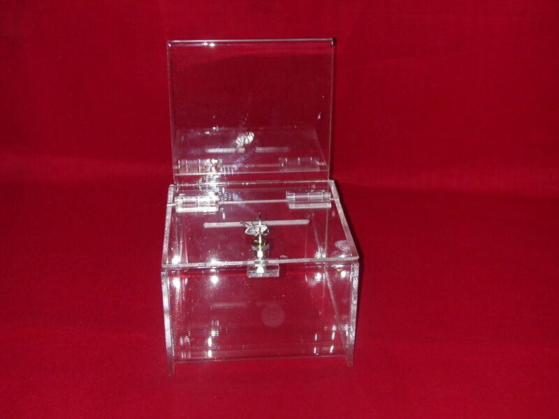 TWELVE (12)  -  NEW  EXTRA LARGE  DONATION/BALLOT BOXES WITH  LOCK  & 2  KEYS