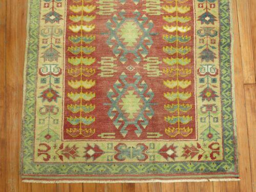 Vintage Turkish Oushak Ushak Rug Size 3