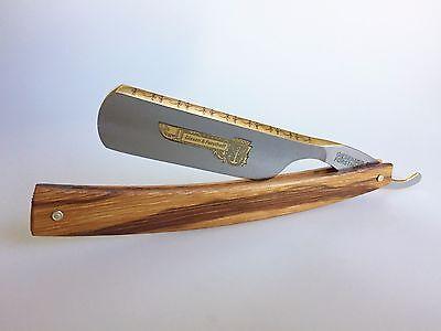 TIMOR G&F Rasiermesser 6/8 bester Carbonstahl Marblewood Gold Solingen Germany