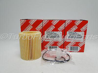 Toyota Genuine OEM Oil Filter 04152-YZZA5 Set of 3