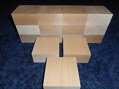 "2 "" x 4"" x 4"" Basswood Carving Wood Blocks Craft Lumber KILN"