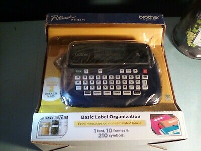 Brother P-touch Pt-45 Label Maker .new Without Box.